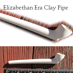 Elizabethan era clay tobacco pipes