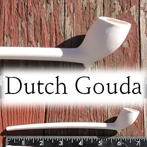 7 inch clay Dutch Gouda Style Pipe