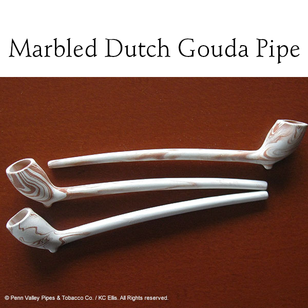 Marbled Dutch Gouda clay pipe