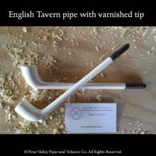 Varnished tip clay pipes