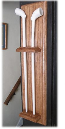 hardwood pipe holder