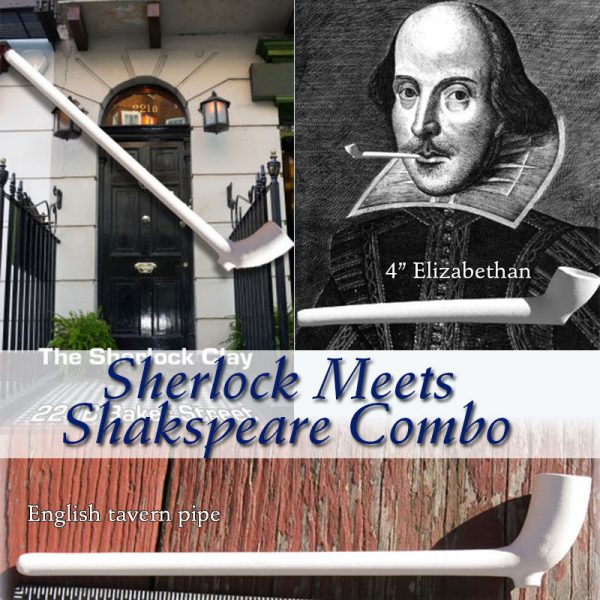 Sherlock meets Shakespeare clay combo