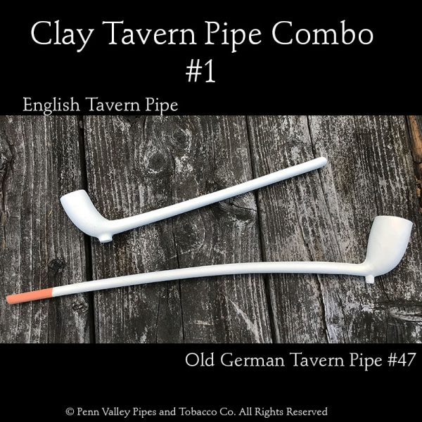 Two clay Tavern pipe combination