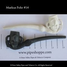 Old German Clay pipe #14 white clay pipe.