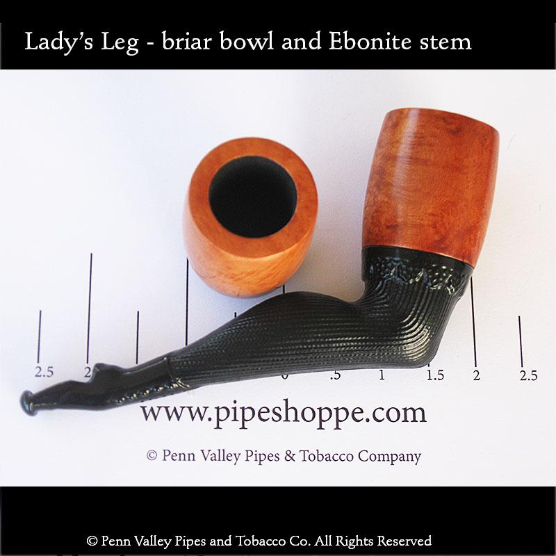 Lady's Leg Briar Pipe - Penn Valley Pipes