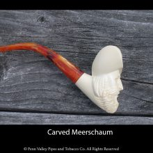carved bearded man Meerschaum pipe