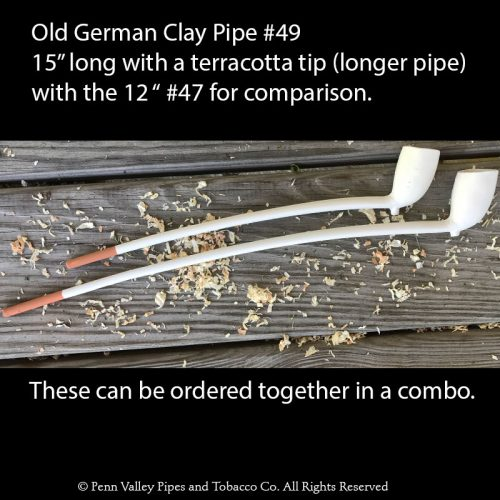 Old German clay tavern pipes