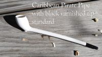 Caribbean Pirate Pipe with black varnish tip