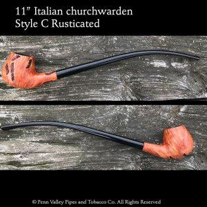 "11"" Italian briar churchwarden"