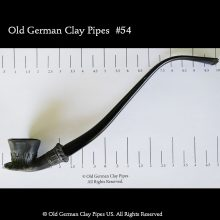 Old German clay coffeehouse pipe