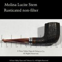 Molina rusticated Italian briar pipe