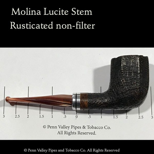 Molina rusticated Italian briar pipe
