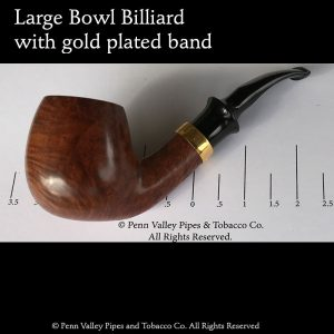 Country pipe with gold band