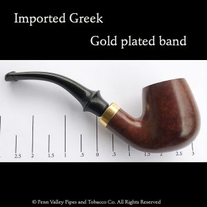 Greek gold band briar filter pipe