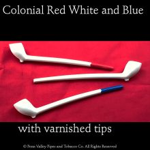 The red, white, and blue colonial clay combo at Pipeshoppe.com
