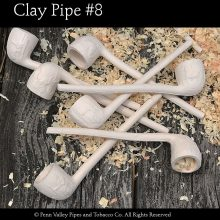 Clay tobacco pipe #8 - Bishop and Knight design at Pipeshoppe.com