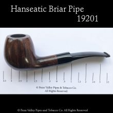 Hanseatic German-made briar pipe at Pipeshoppe.com