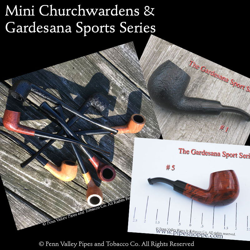 mini churchwardens and Gardesana Sports Series pipes at Pipeshoppe.com