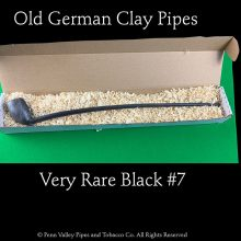 a rare black #7 clay tavern pipe