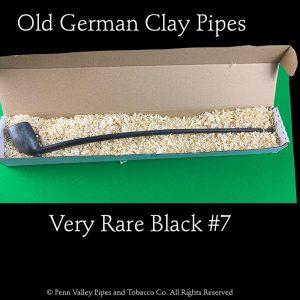 a rare black #7 clay tavern pipe