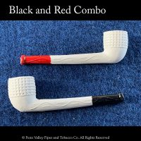 Old German Clay pipes red and black tip combo