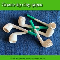 Green-tip clay pipes at Pipeshoppe.com