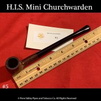 H.I.S. Italian Mini Churchwarden Briar Pipe at www.shop.pipeshoppe.com