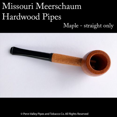 Missouri Meerschaum Maple Hardwood Pipe at Pipeshoppe.com - straight hardwood pipe with a 6mm filter
